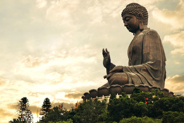 Say A Prayer at Tian Tan Buddha
