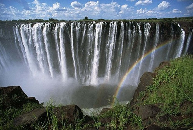 Victoria Falls On The Zambia
