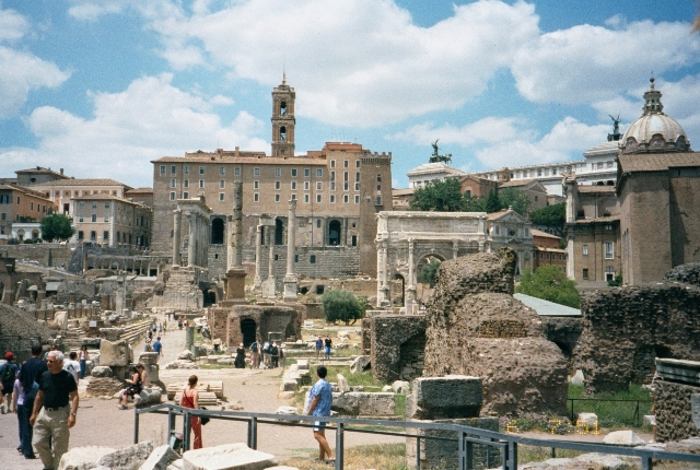 See Temples And Arches At The Roman Forum