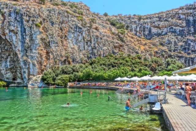 Enjoy Thermal Bath At Lake Vouliagmeni