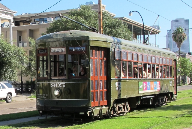 Take a ride in the St. Charles Streetcar