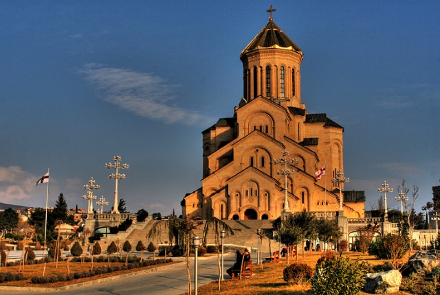 Visit the Holy Trinity Cathedral of Tbilisi