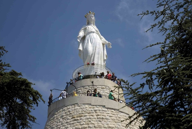 The Statue Of Our Lady Of Lebanon