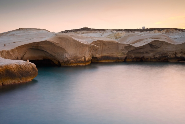 Climb Up The Rocks Of Sarakiniko