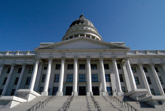 The State Capitol Building In Salt Lake City