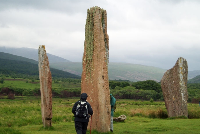 The Site Of Machrie Moore Standing Stones