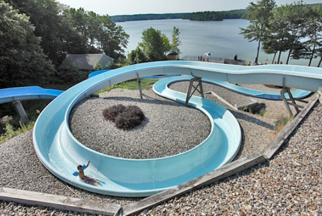 Breezy Picnic Grounds Water Slides