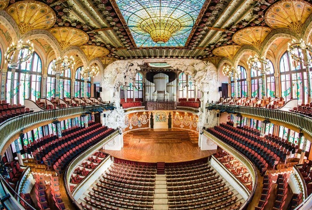 Go For A Concert At El Palau De La Musica Catalana