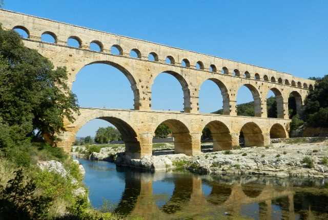 The Aqueduct Of Pont Du Gard